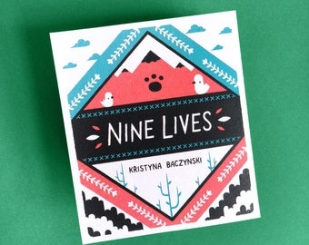 Nine Lives - Concertina Comic, Cat Zine
