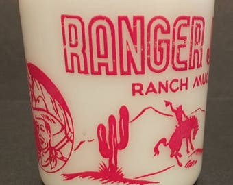 Ranger Joe Wheat or Rice Honnies Cereal Mug 1950's Hazel Atlas