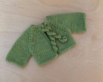 Waldorf Doll Knit Sweater for 12-Inch Waldorf Doll  **Lettuce**