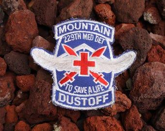 Medevac Military Dustoff Mountain 229th Med Det Vintage