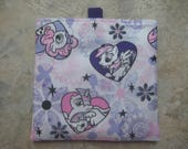 My Little Pony - Reusable Sandwich Bag, Reusable Snack Bag, Washable Treat Bag with easy open tabs