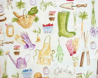 Spring Fabric, By The Yard, Garden Vegetable Fabric, AMF Fabrics, Homegrown Collection, Quilting Fabric, Sewing Fabric, Apparel Fabric