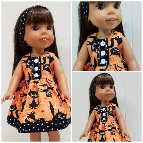 Wellie Wisher Halloween Kitty Dress