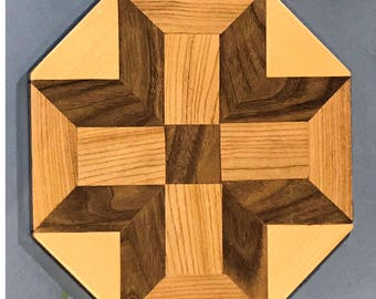 3D wooden wall pattern