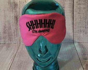 Sleep Mask/ Pink sleep mask/ Eye Mask Sleeping eye mask/Eye mask for women