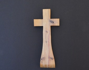 "Wood Cross; Christian Gift; Wall Decor; Wood Gift; Wedding Gift; Sympathy Gift; Cedar; 5""x12""x1""; Free Ground Shipping USA; cc35-1012117-rs"