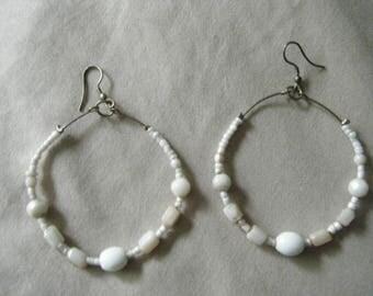 """Beaded Hoop Earrings 2"""" Diameter //Summer Jewelry Looks"""