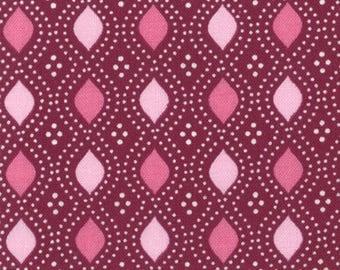 Moda Quilting Fabric, Domestic Bliss by Liz Scott for Moda Fabrics, 18077-11 Geometric Beaded Eggplant