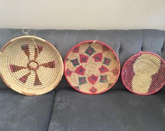 Vintage Trio of Beautiful Baskets