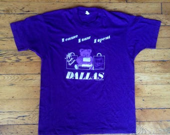 1990 Dallas I came I saw I spent t shirt USA large