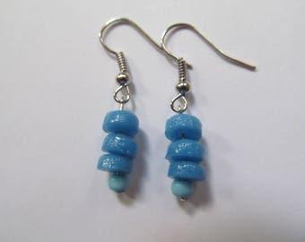 Light Blue Ghana Earrings