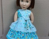 "Vintage handkerchief, buttons, ooak, 16"" doll clothes, A Girl for All Time"