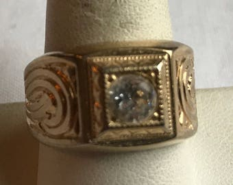 14K Gold Plated Man's Ring-Size 9 3/4