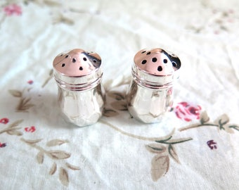 Small Sterling Silver Salt and Pepper Shakers