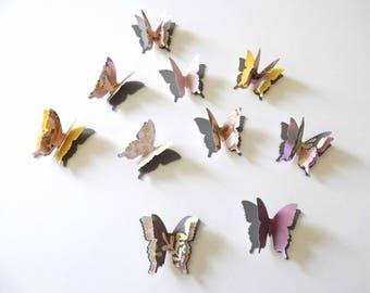 3D Paper Butterflies, bridal shower, birthday party decor, anniversary decor, layered butterflies