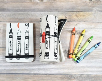 Crayon Roll And Notebook, crayon gift pack, Back to School, Craft supplies, Travel gift, kids travel toys, kids stationary, toddler gift