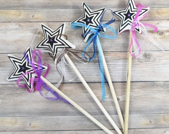 Set of 4 Magic Wands, Princess Party Favors, Princess Birthday, Princess Theme Birthday, Birthday Party Favor, Princess Gifts, Fairy party