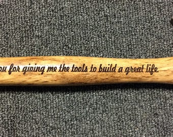 Engraved Hammer, Personalized Hammer, Gift for Dad, Custom Hammer, Groomsmen Hammer, Father of the Bride Gift