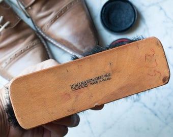 Ruhama 100% Horse Hair Shoe Shine Brush Made in Israel