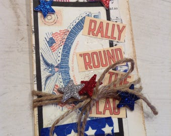 Old Glory Manilla Tags, USA, US Flag Hang Tags, Patriotic Gift Tags, Red, White and Blue, Memorial Day Tags, Independence Day Gift Tags, #2