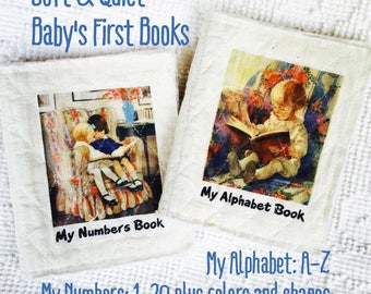 My Numbers Book and My Letters Book. Soft Quiet Books for Infants to spark their interest in learning from books. Baby's first book series