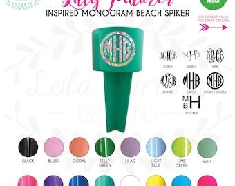 Lilly Pulitzer Inspired Monogram Beach Spiker Drink Holder