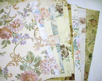 Wallpaper Sample Sheets 10 Sheets Floral Theme