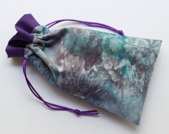 Magic Smoke Tarot Bag - Small/Med pouch - oracles, goddess cards, runes, gypsy divination