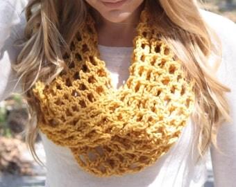 READY TO SHIP - Women's Crochet Scarf, Crochet Scarf, Crochet Cowl, Crochet Infinity Scarf, Teen's Scarf, Teen's Cowl, Winter Scarf