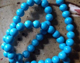 25% off 8mm blue Magnesite, stone beads, jewelry destash, beading supplies