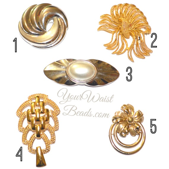 Vintage Earrings & Brooches ~ YourWaistBeads.com