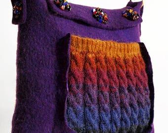 "Handbag ""Rainbow"" felted"