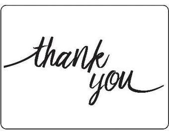 NEW!  Script THANK YOU Embossing Folder by Darice