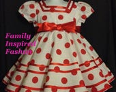 Shirley Temple replica dress, size 4