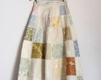 Vintage handmade tapestry skirt / Chateau Skirt
