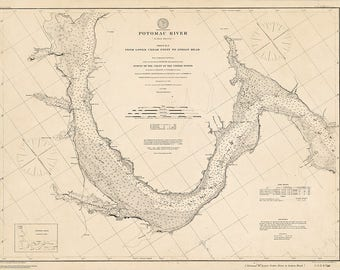 1902 Nautical Chart of the Potomac River