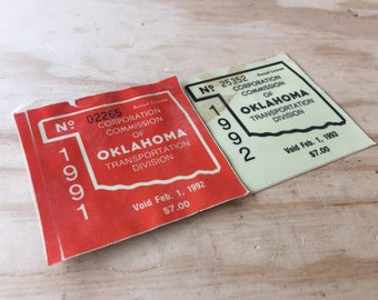 Oklahome Inspection Stickers