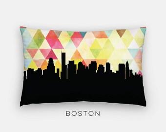 Boston Massachusetts home   Boston skyline pillow   yellow Boston art pillow   Boston home decor   Massachusetts home decor   modern pillow