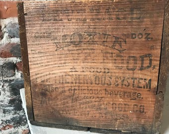 Rare Vintage Moxie Nerve Tonic Crate Old Box Oddity Antique Medicine