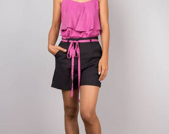 Black shorts, women's shorts, high waist shorts, short pants, summer pants, short brown pants, fashion shorts, tennis shorts