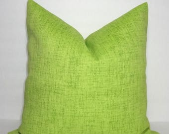 FALL is COMING SALE Outdoor Pillow Cover Solid Lime Chartreuse Patio Deck Pillow 18x18 Green Accent Pillow Cover All Sizes