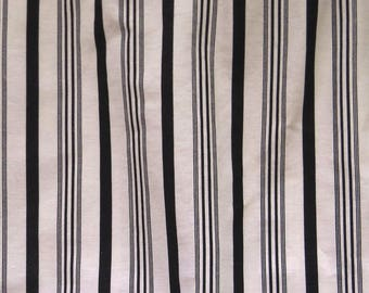 ralph lauren king bedskirt black and cream stripes dust ruffle tailored and pleated