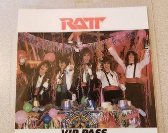 Original RATT All Access Laminated VIP Pass Happy New Year