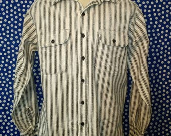 1980's Five Brother thick cotton shirt, large