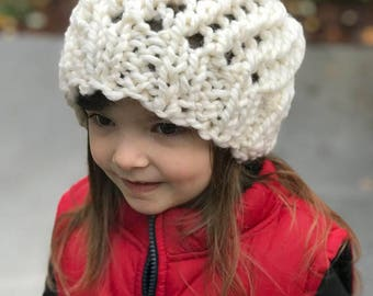 Chunky Knit hat, Bulky Knit Hat, Knitted girls Hat