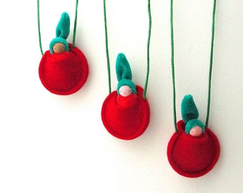 Apple Children's Necklace // waldorf toy // Apple doll // Pocket doll