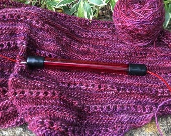 Red Needle holder  for keeping knitting safe