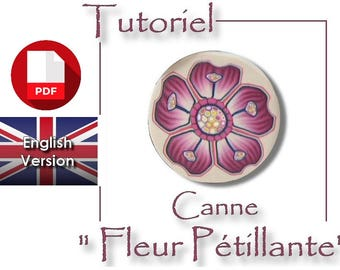 Tutorial / PDF English : Cane 'Sparkling flower' with Polymer Clay