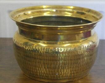 antique brass plant pot planter