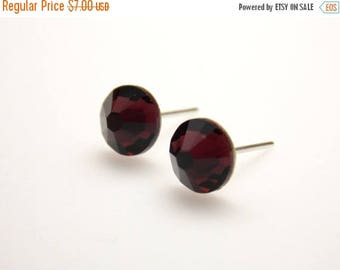 SALE Swarovski Crystal Stud Earrings, Crystal Marsala Earrings, Burgundy Earrings Merlot, Burgundy Stud Earrings, Post Earrings, Bridesmaid